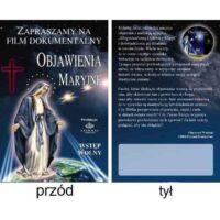 Zaproszenie na film - Objawienia Maryjne